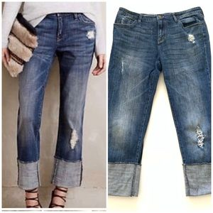 Anthropologie | Pilcro Letterpress Cuffed Jeans 29